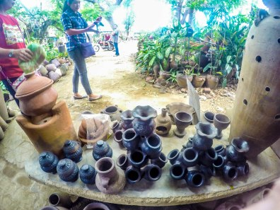 Finished products in a pottery at Vigan, City